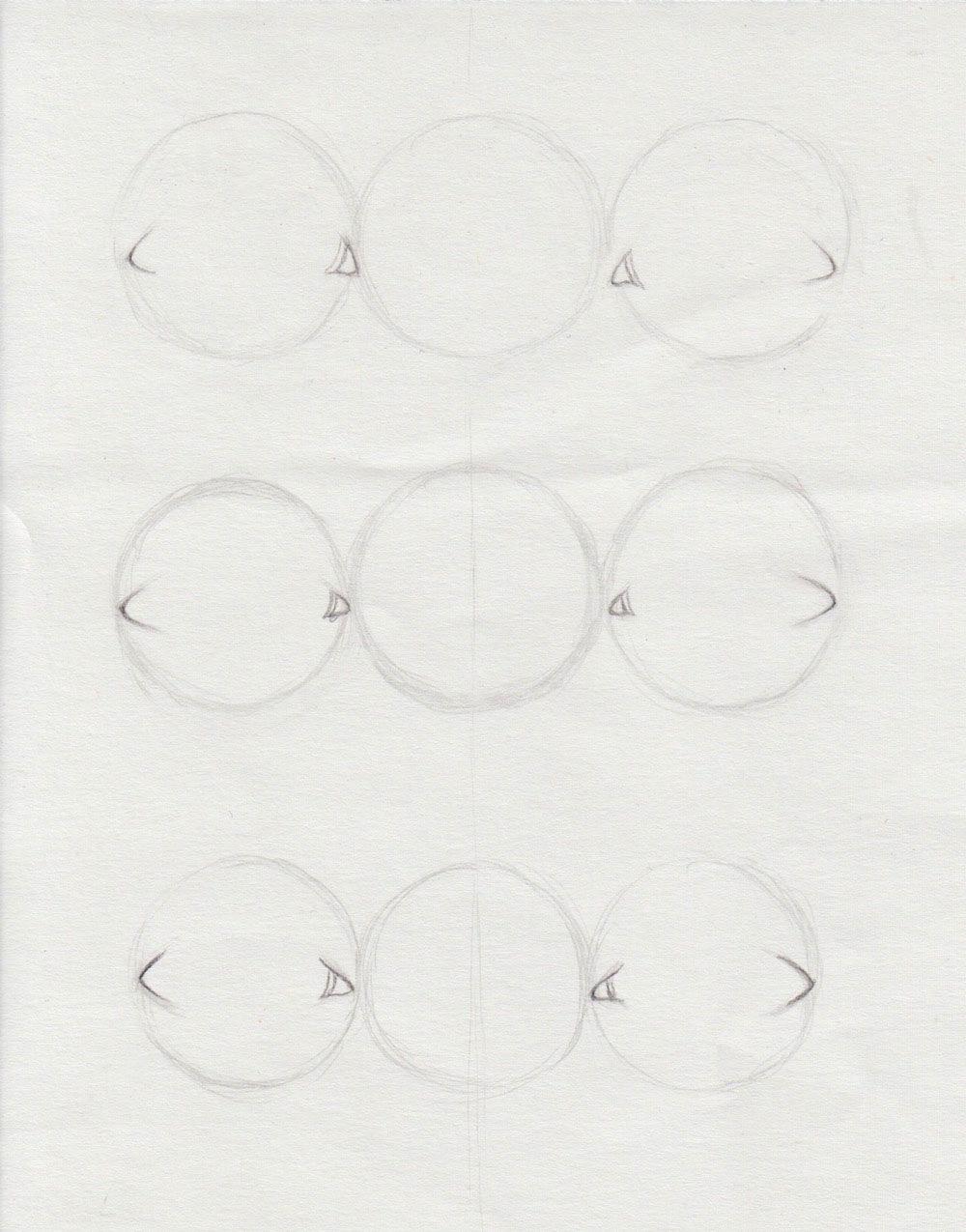 verschiedene Augenwinkel zeichnen