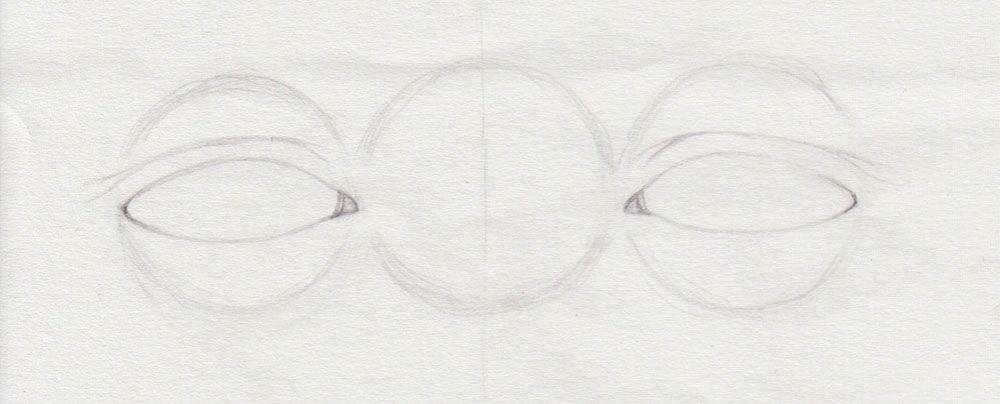 Augen mit Doppellid zeichnen