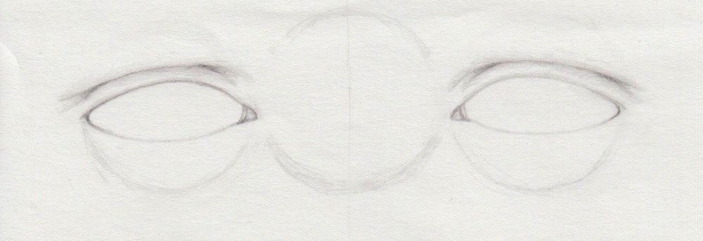 Augenlider zeichnen