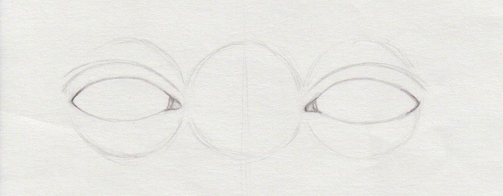 Augenlider zeichnen leicht