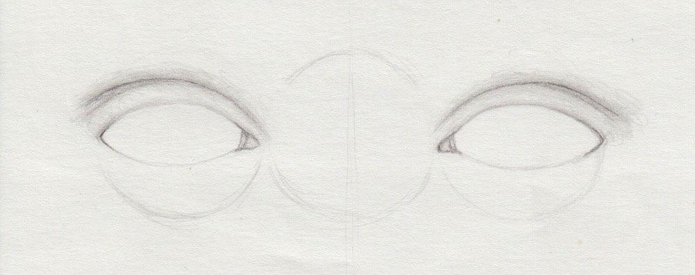 Augenlid zeichnen keicht