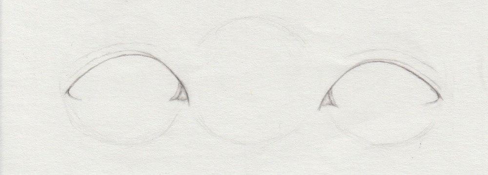 asiatisches Auge zeichnen