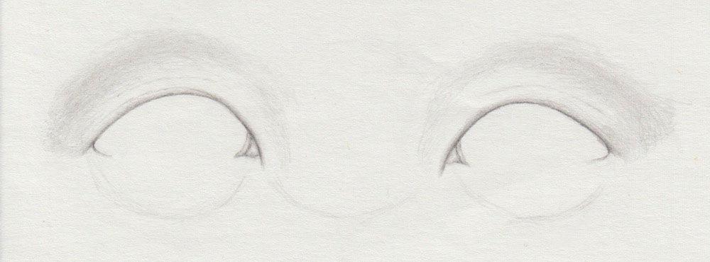asiatische Augen zeichnen