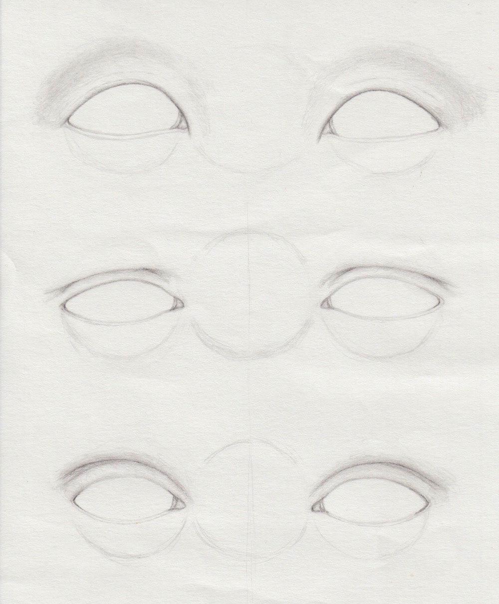 verschiedene Augen zeichnen