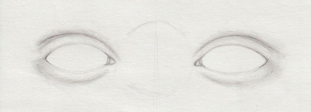 unteres Augenlid zeichnen