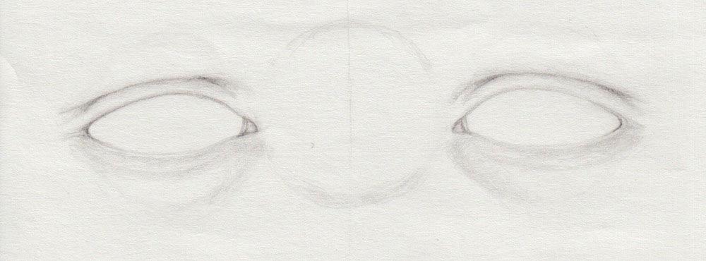 unteres Augenlid mit Augenringen zeichnen