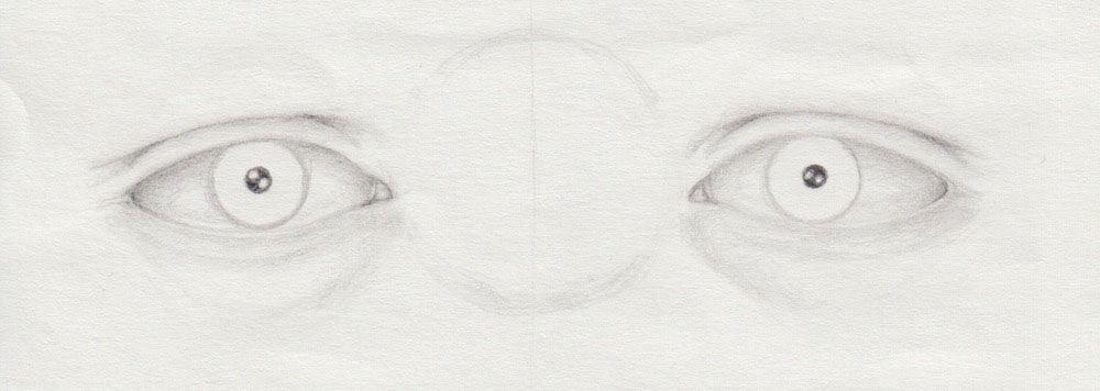 Pupille und Iris zeichnen