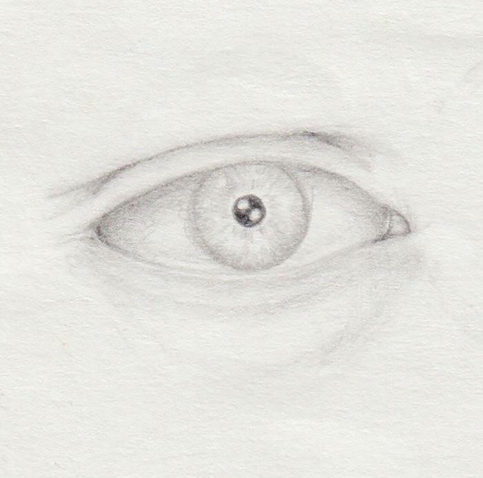 helle Augen zeichnen