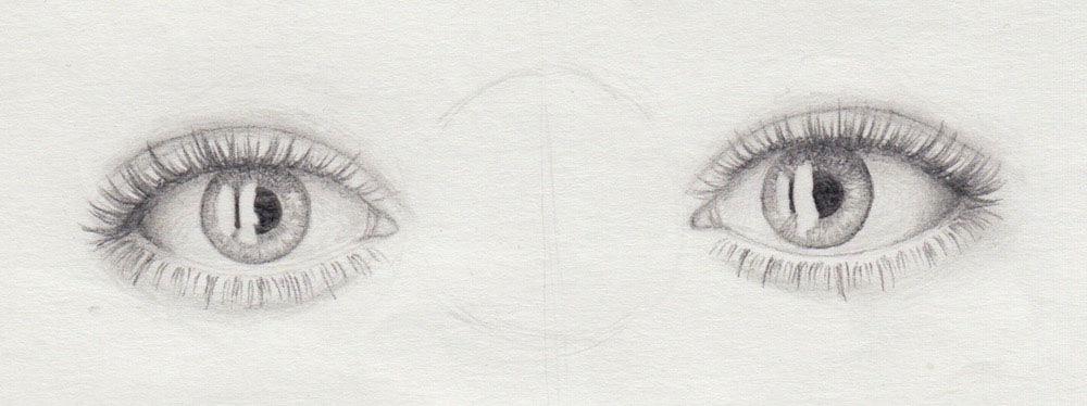 Wimpern richtig zeichnen