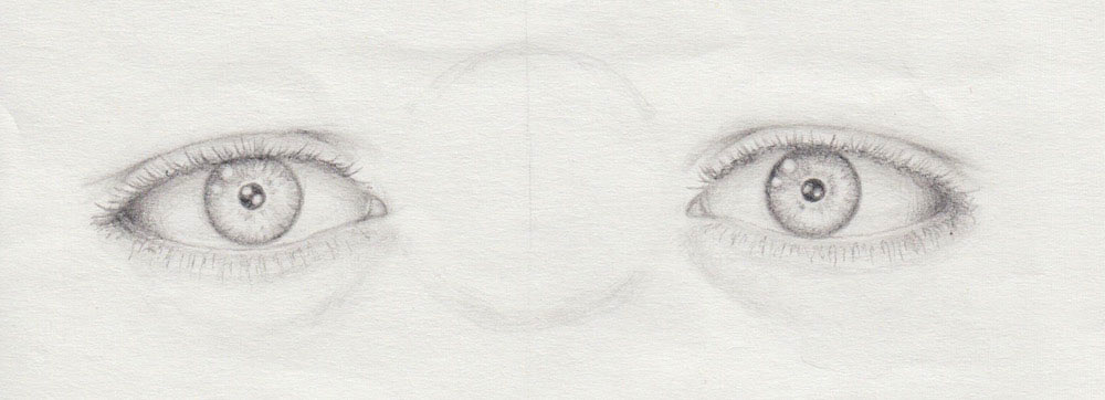 Wimpern zeichnen