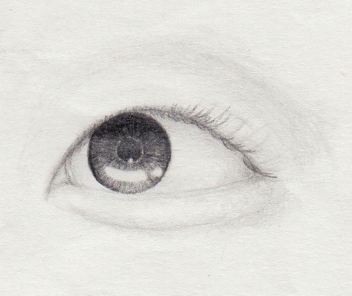 kurze Wimpern zeichnen