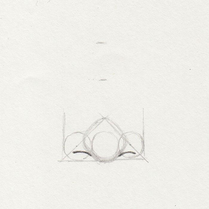 Nasenspitze zeichnen