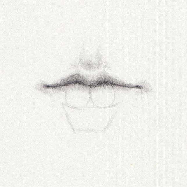 Schatten auf Lippen zeichnen