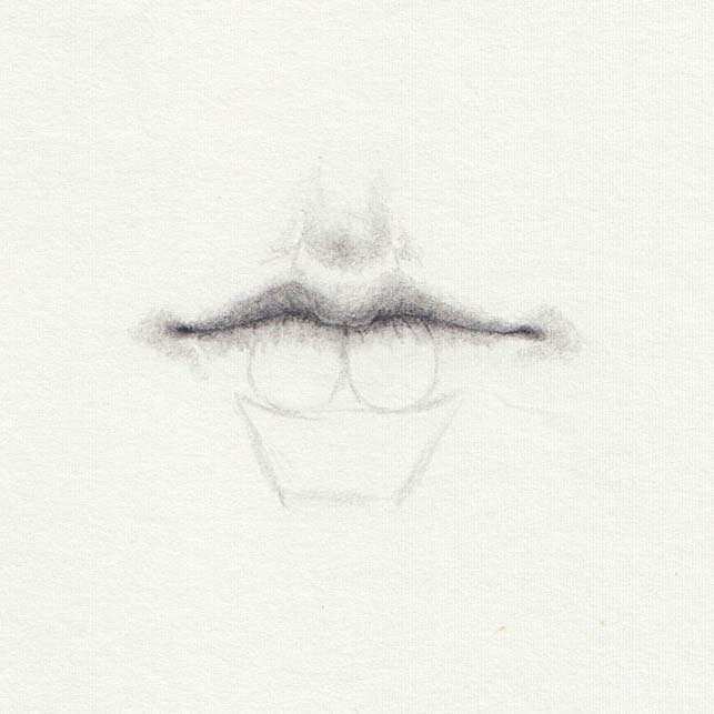 Draw shadows on lips