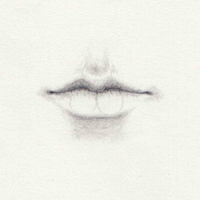 Draw lower lip