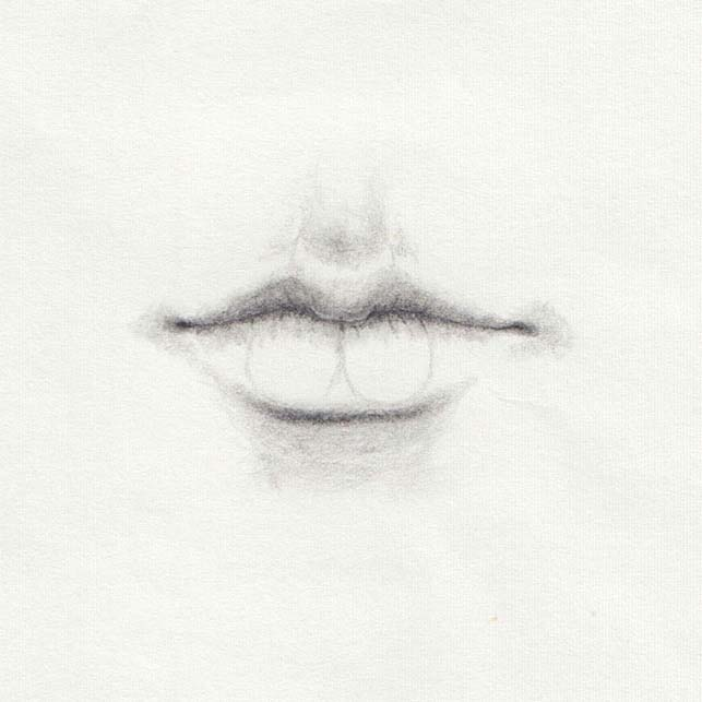 Draw lower lip shadow