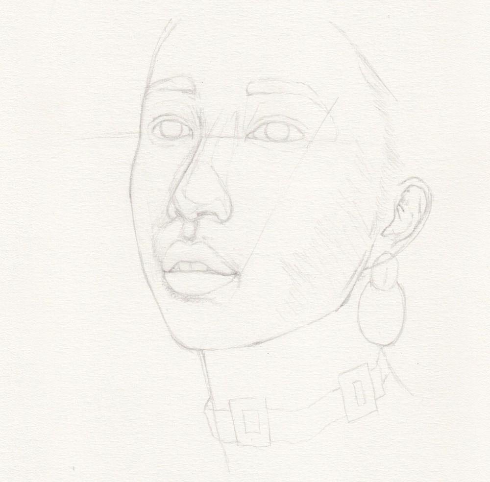 Skizze zeichnen Portrait