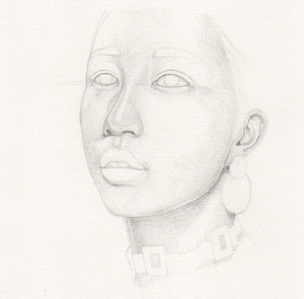 Portrait Haut zeichnen Bleistift