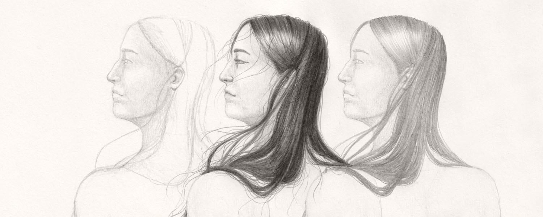 Lange Haare zeichnen