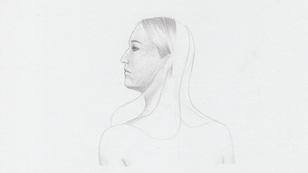 Draw long hair: Light hair