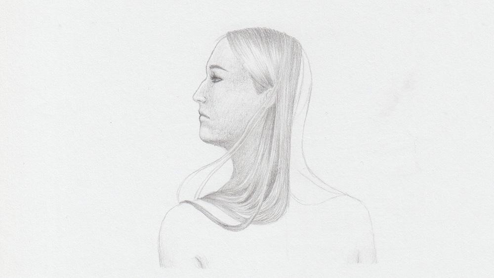 Lange Haare zeichnen: Blonde Haare