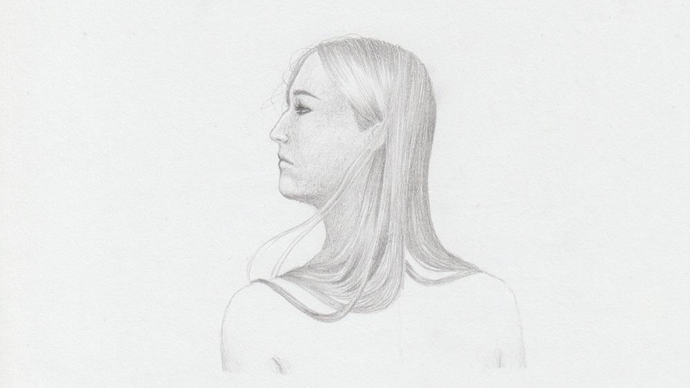 Draw blonde hair