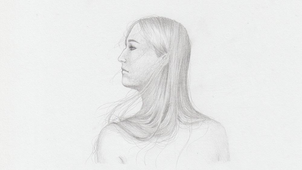 Blonde Haare zeichnen