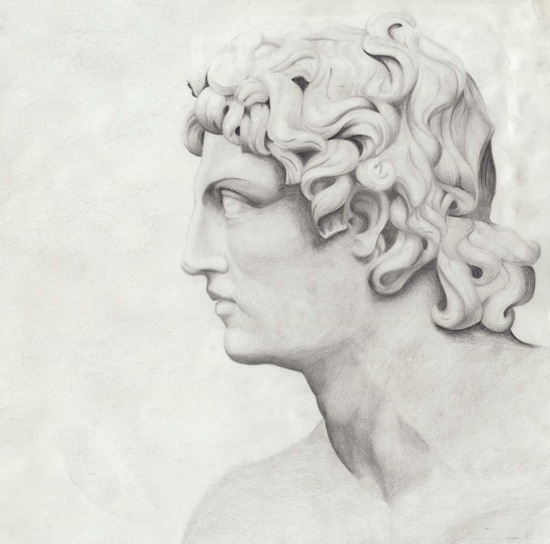 Zeichnung aus Rom, Italien: Römer