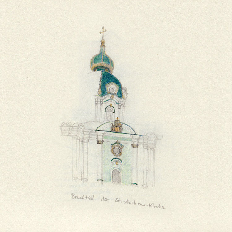 Drawing Church (St. Andreas Church in Kiev)