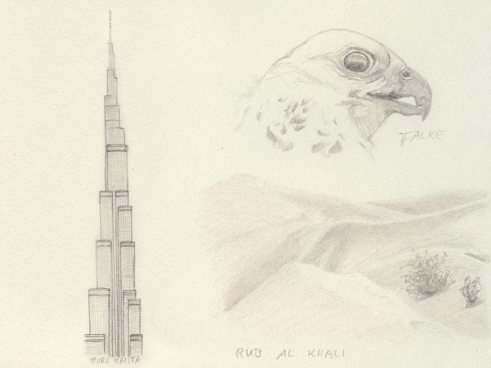 Sketch from Dubai