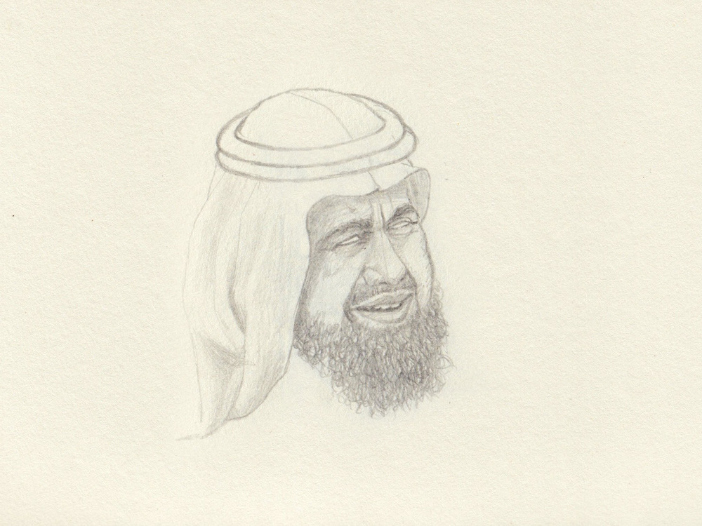 Dubai sketch man