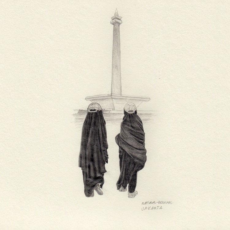 Jakarta sketch monument