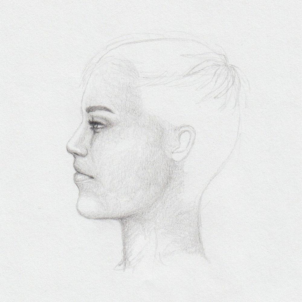 Kurze Haare zeichnen: Frisur planen