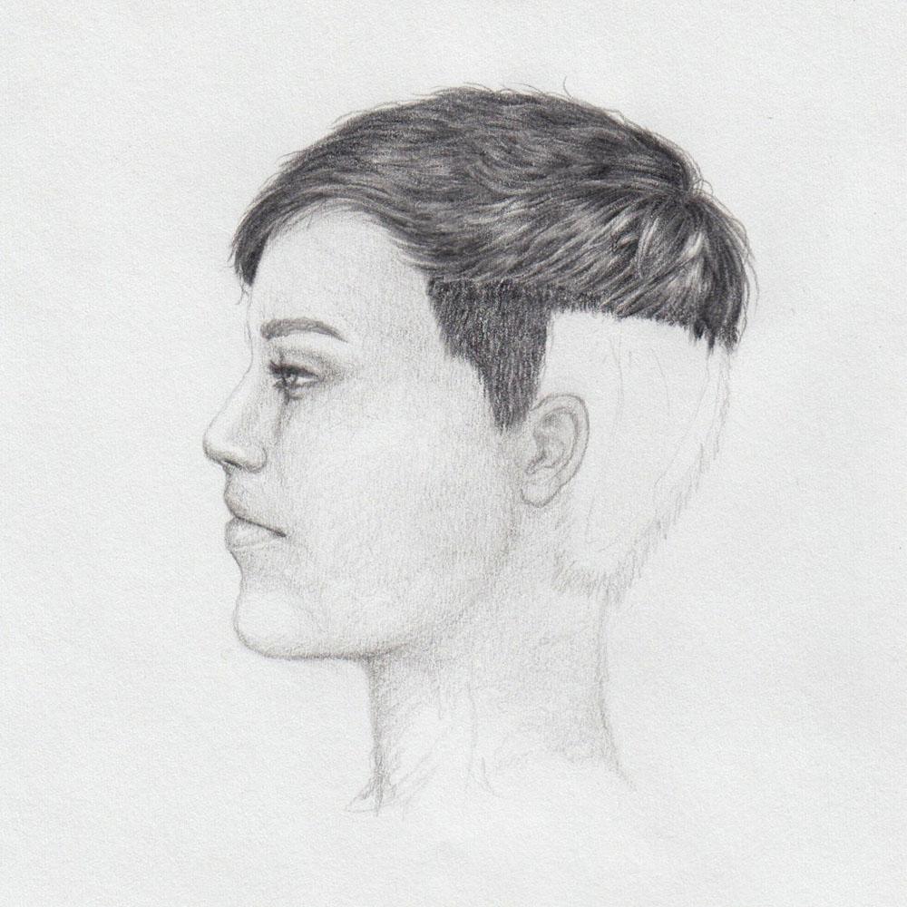 Kurze Haare zeichnen