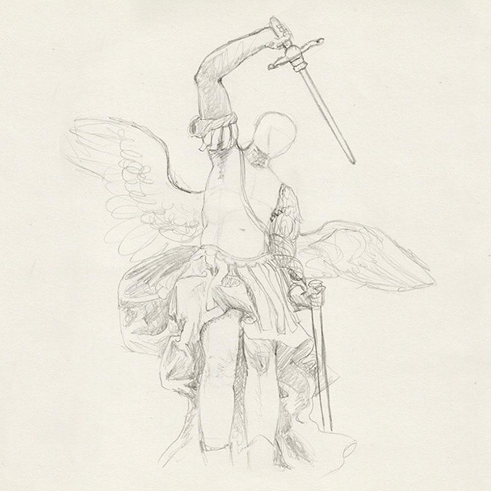 Engel Skizze