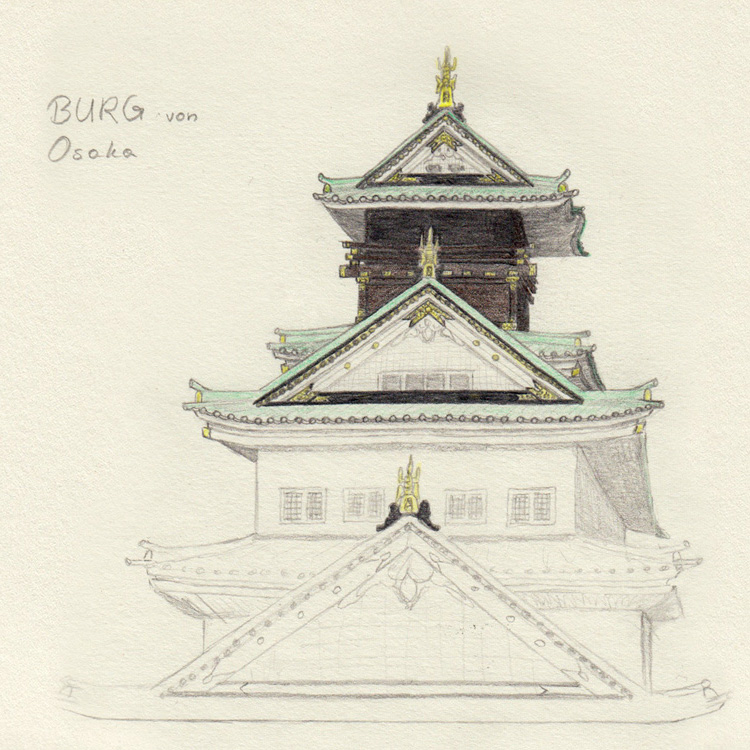 Drawing Osaka Castle