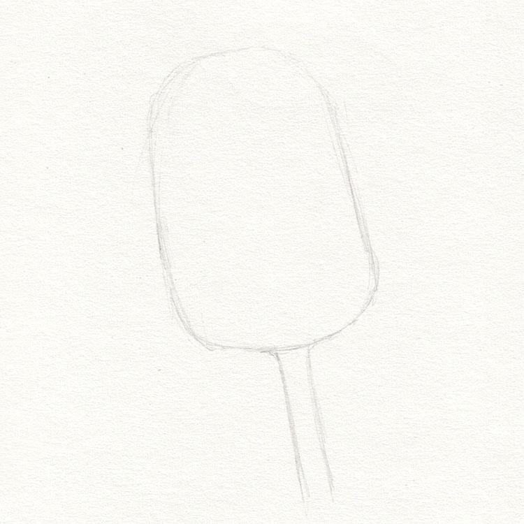 Тюльпан рисует основную форму