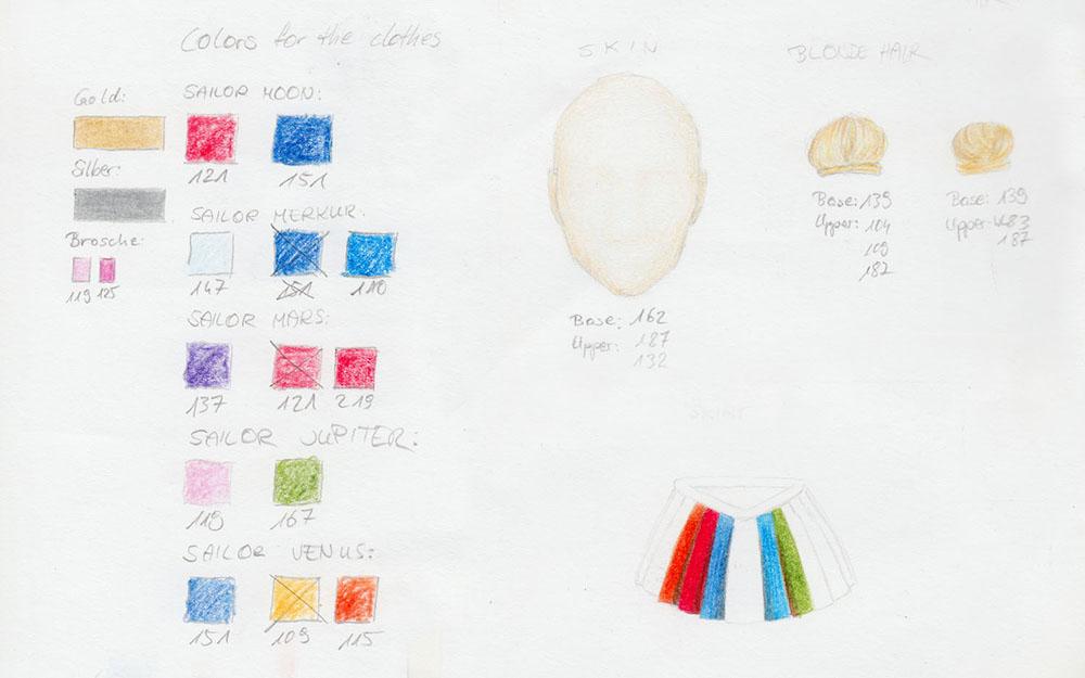 Farbpaletten im Skizzenbuch