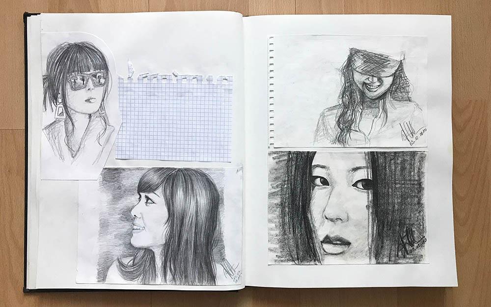 Drawings do not belong in the sketchbook