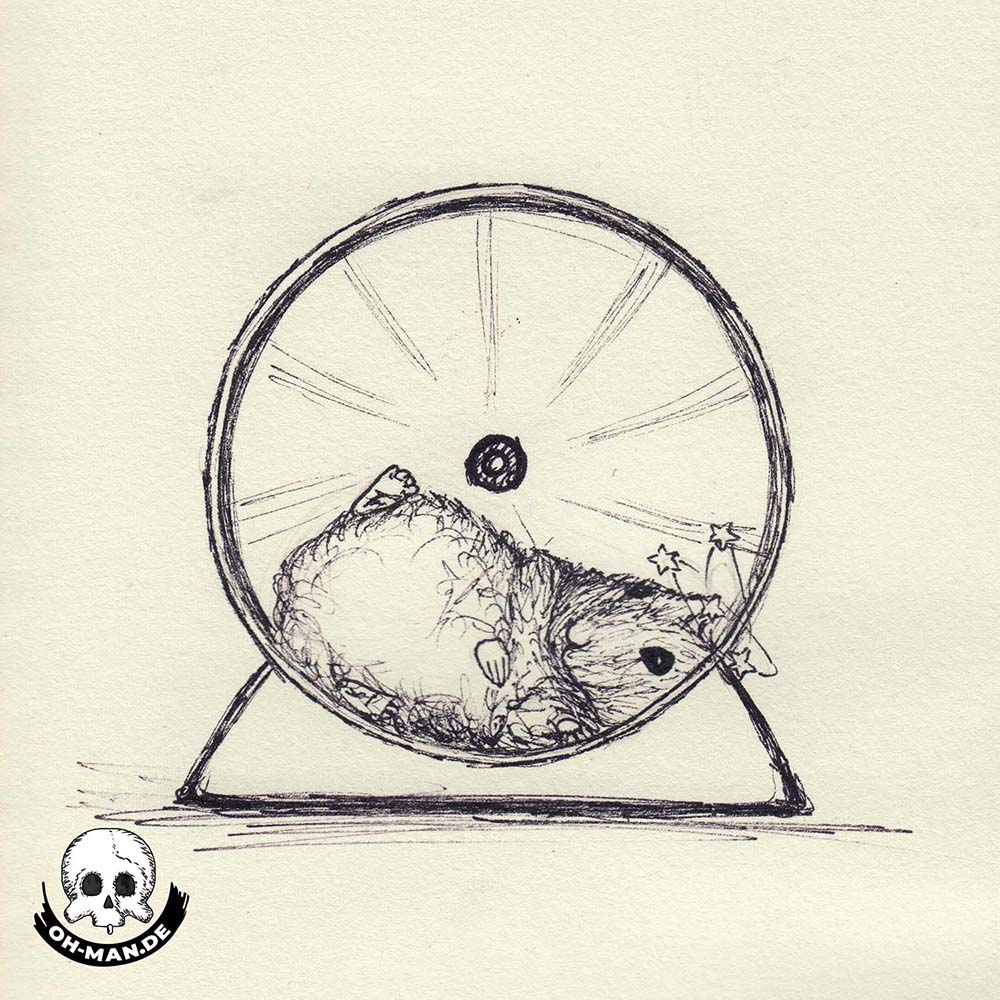 Ink drawing hamster