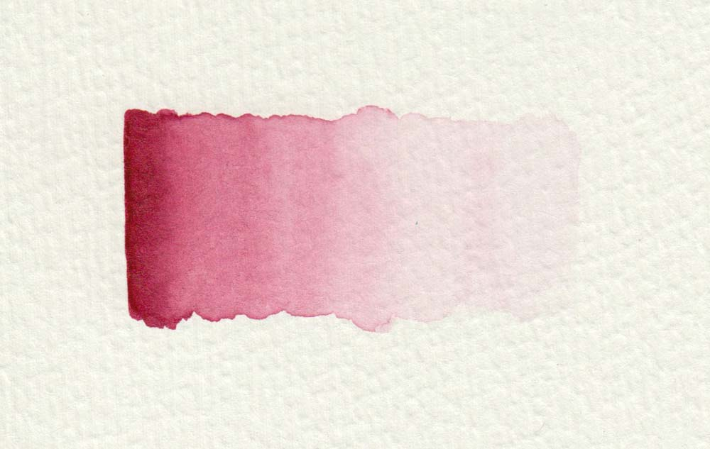Watercolor painting technique: Color gradient red