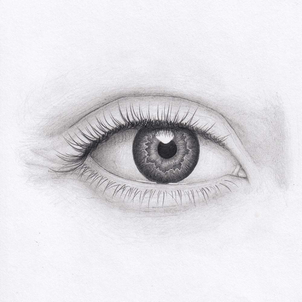Learn to draw an eye from the front