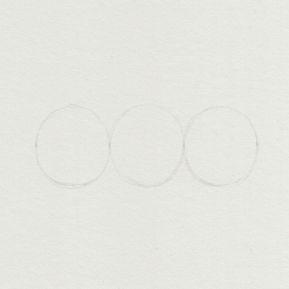 Aufbau Augen mit 3 Kreisen