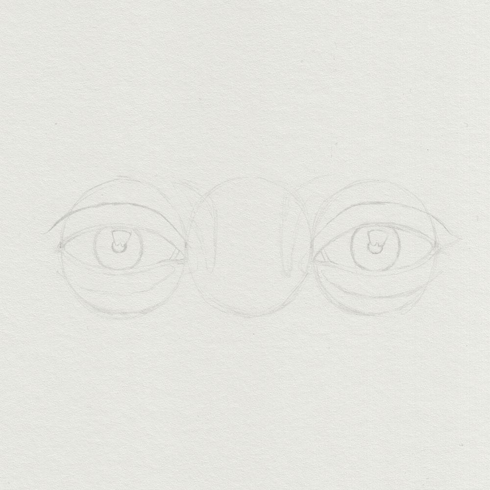 Skizze Augen