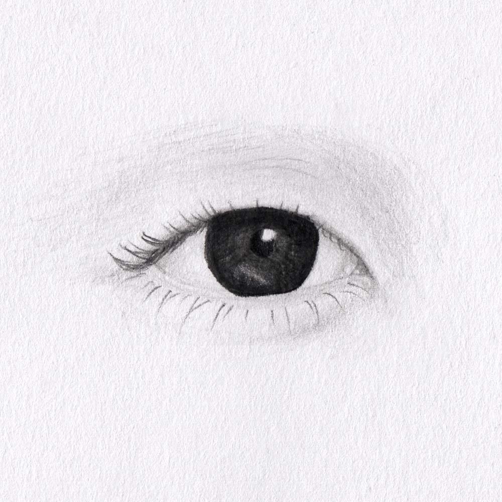 Auge mit Monolid zeichnen