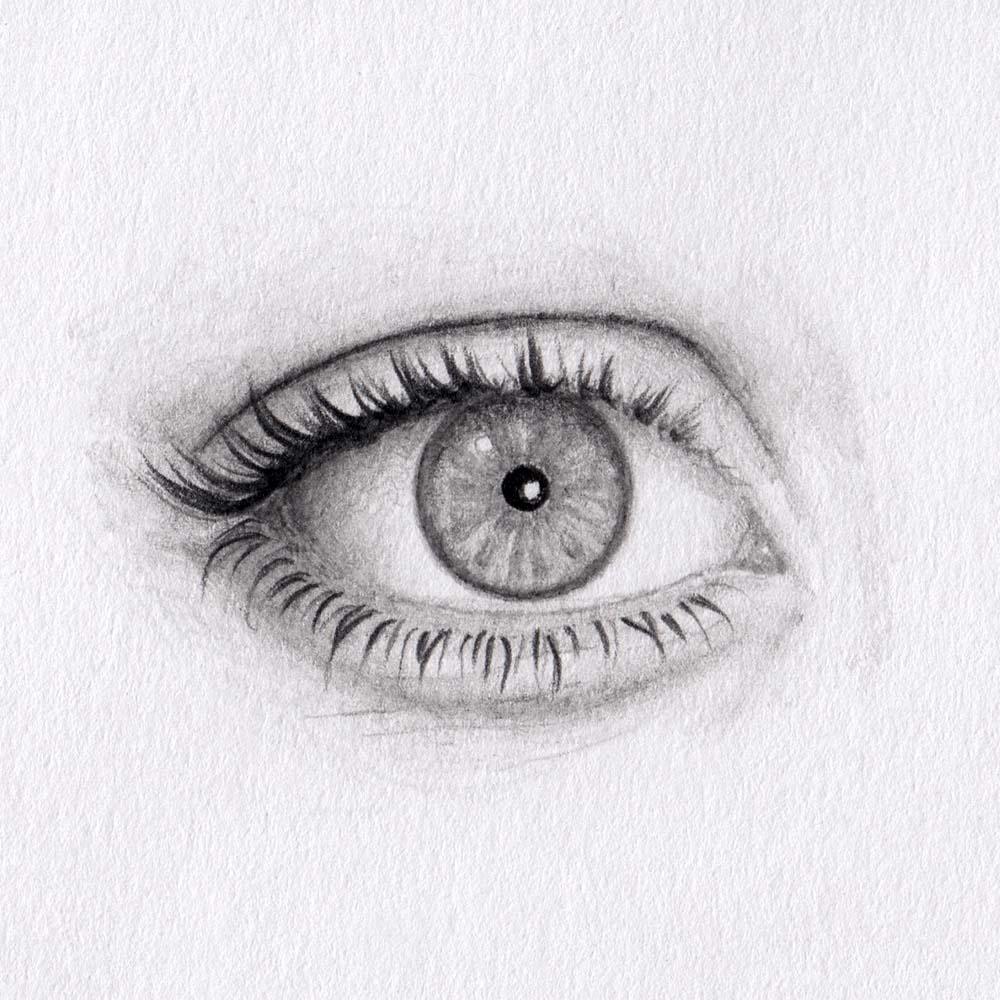 Runde Augen zeichnen