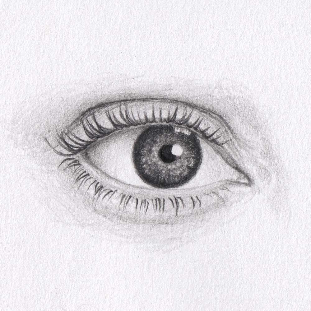 Aufsteigende Augen / Katzenaugen zeichnen