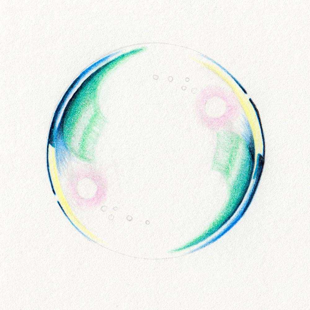 Contrasts in the soap bubble