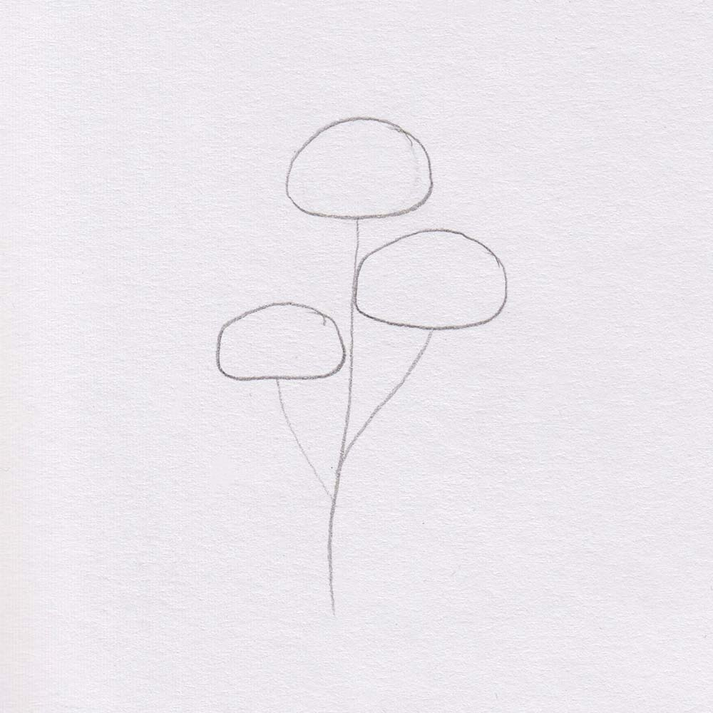 Draw basic shape tree simple