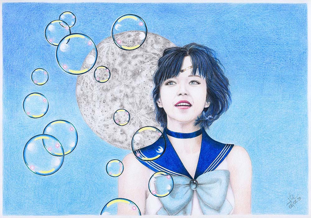 Sailor Mercury realistic drawing